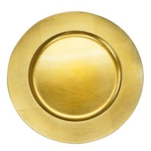 Gold Acrylic Charger