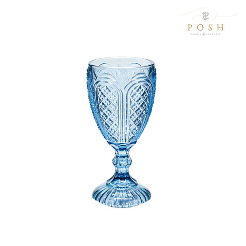 Angelica Blue Glassware Collection
