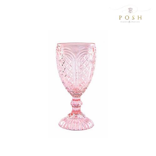 Angelica Blush Glassware Collection