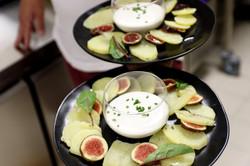 Mousse de chèvre, pommes de terre bio et figues-1