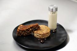 Gateau aux noix et sa crème infusé au thé noir-1