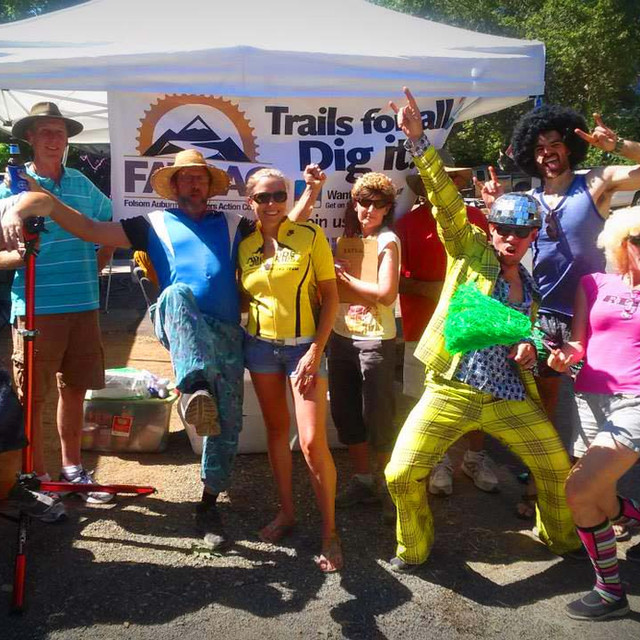 FATRAC aid station supporting the Tahoe - Sierra 100 mountain bike race.