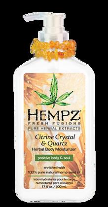 Hempz Citrine Crystal & Quartz Moisturizer 17oz