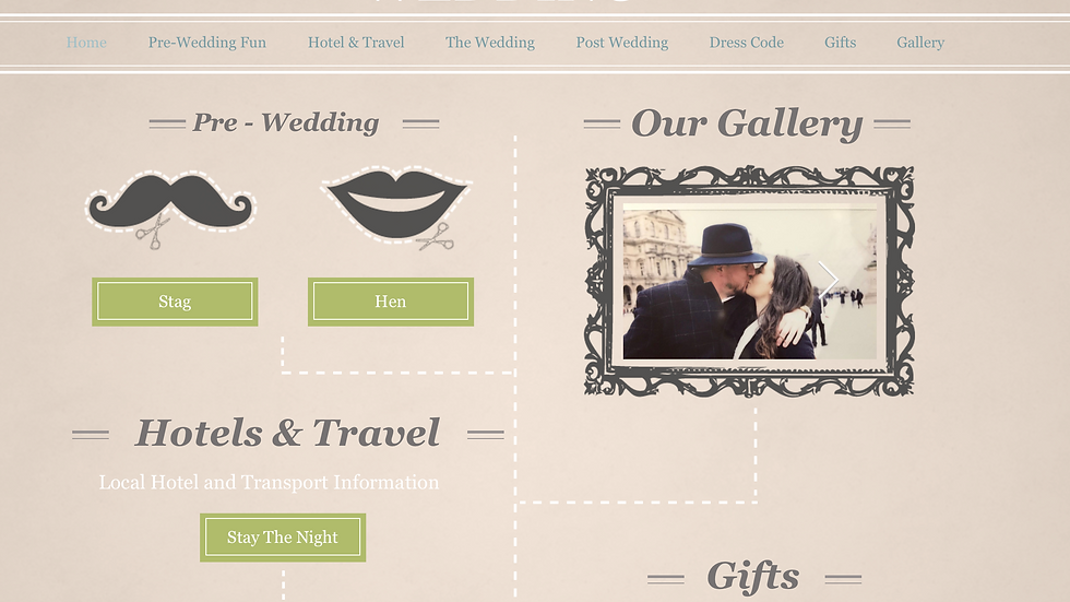 Wedding Website including RSVP and Inbox