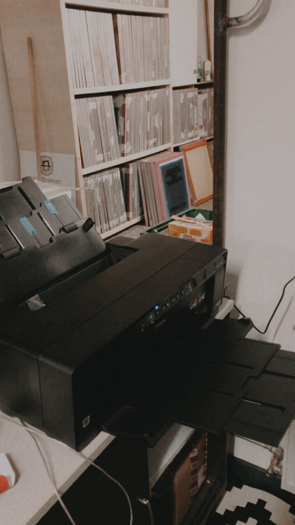 Foliendrucker zur Sieberstellung.