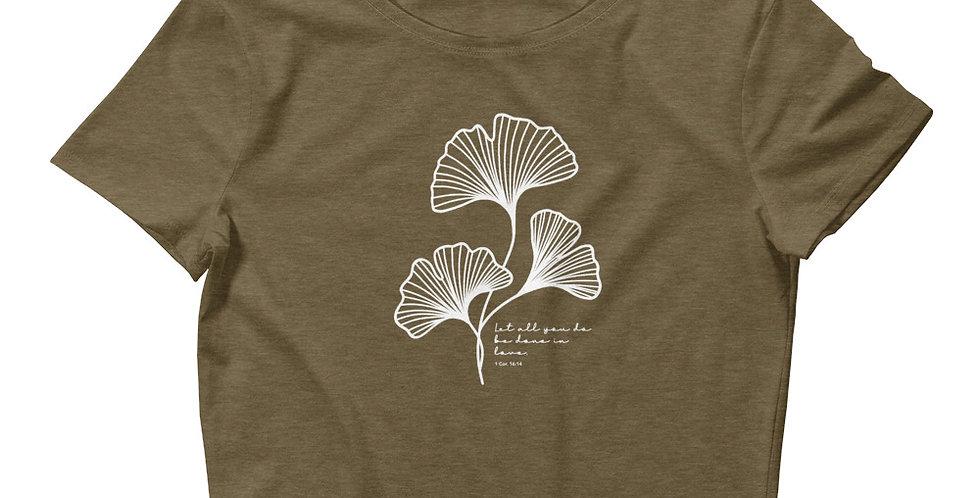 Gingko Leaf Women's Crop Tee