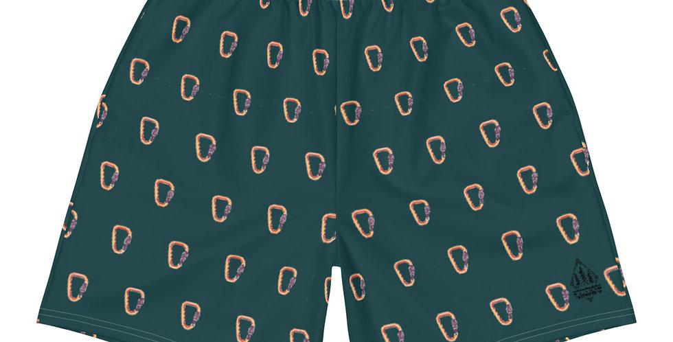 Men's Dark Green Carabiner Athletic & Swim Shorts