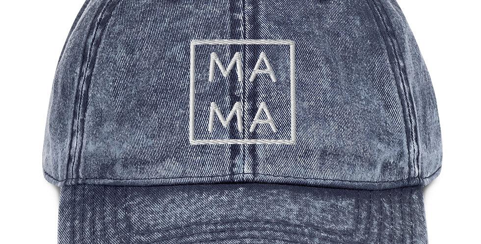 Mama Vintage Cotton Twill Cap