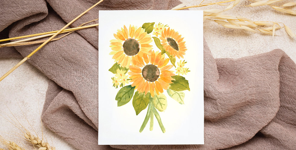 Sunflowers | Watercolor Painting