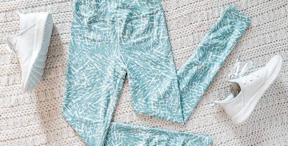 Blue Painted Leggings