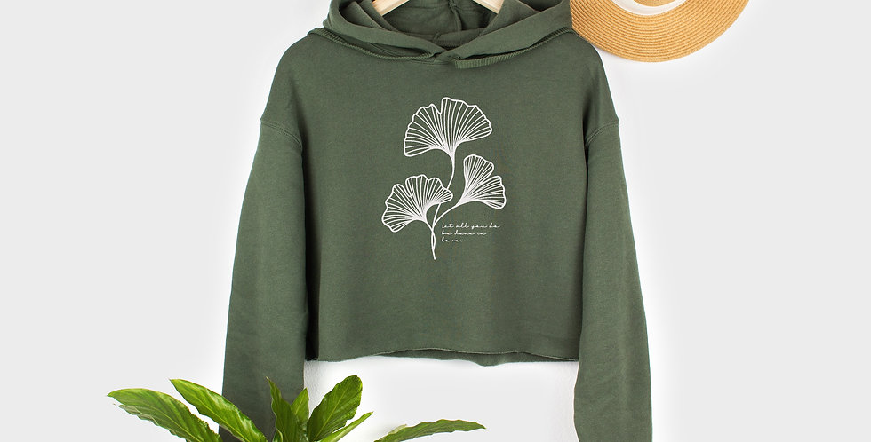 Gingko Leaf Crop Hoodie