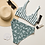 Thumbnail: Sage Leaf Strip Top Recycled High-Waisted Bikini