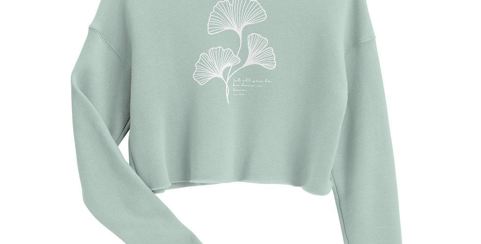 Gingko Leaf Crop Sweatshirt