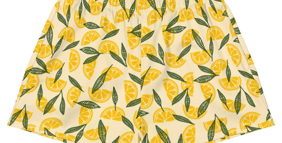 Lemon Vegan Women's Athletic Shorts