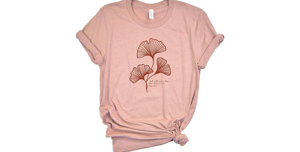 Gingko Leaf Short-Sleeve T-Shirt