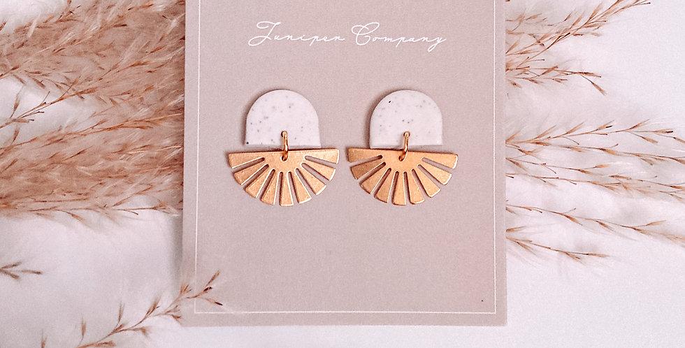 Gold Fan Earrings