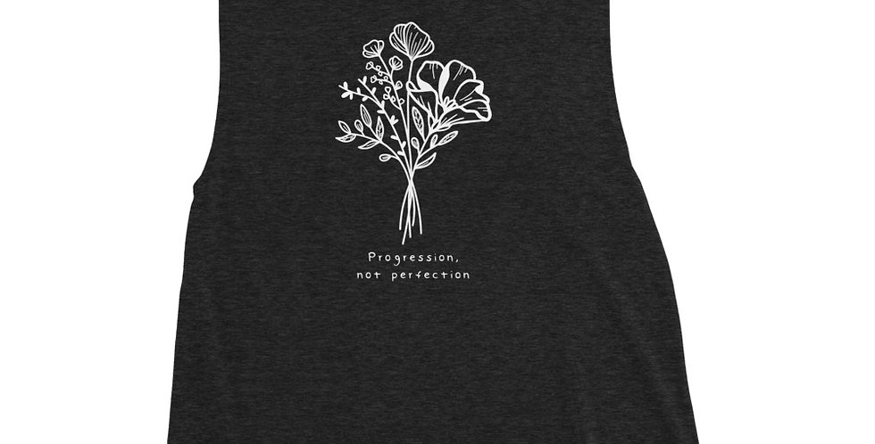 Progression Not Perfection Ladies' Muscle Tank