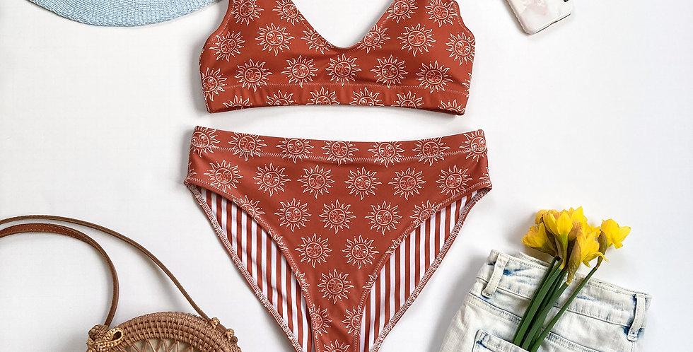 True Terra-cotta Recycled High-Waisted Bikini
