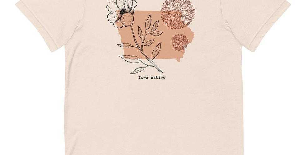 Abstract Iowa Prairie Rose Short-Sleeve T-Shirt