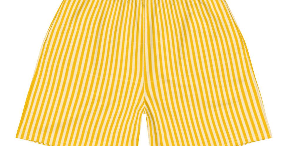 Men's Athletic Shorts | Lemon Stripes