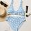 Thumbnail: Blue Daisy Recycled High-Waisted Bikini