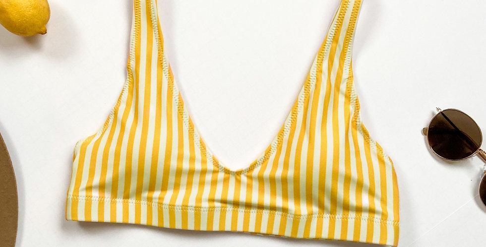 Lemon Recycled Padded Bikini Top
