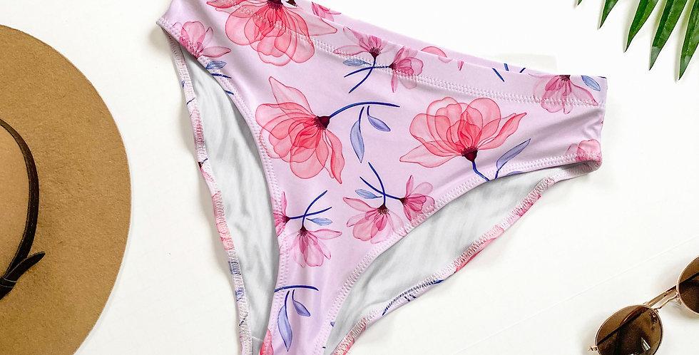 Pink X-ray Recycled High-Waisted Bikini Bottom