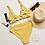 Thumbnail: Lemon Top and Striped Bottom Recycled High-Waisted Bikini