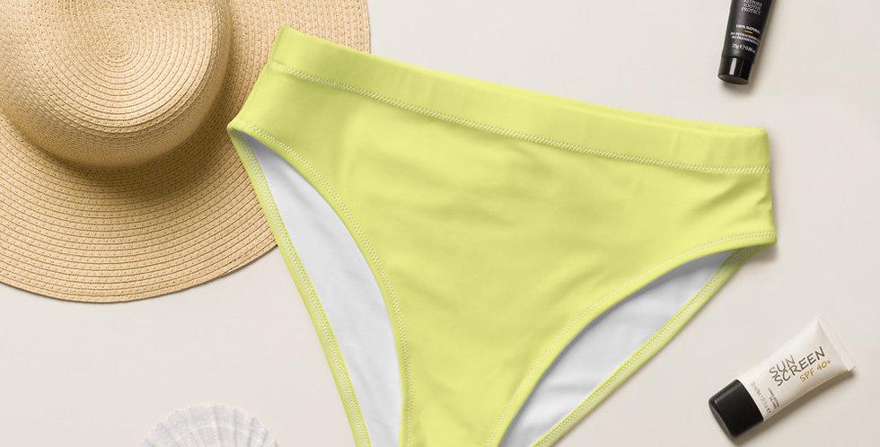Chartreuse Recycled High-Waisted Bikini Bottom