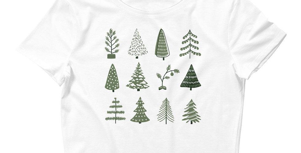 Christmas Trees Women's Crop Tee