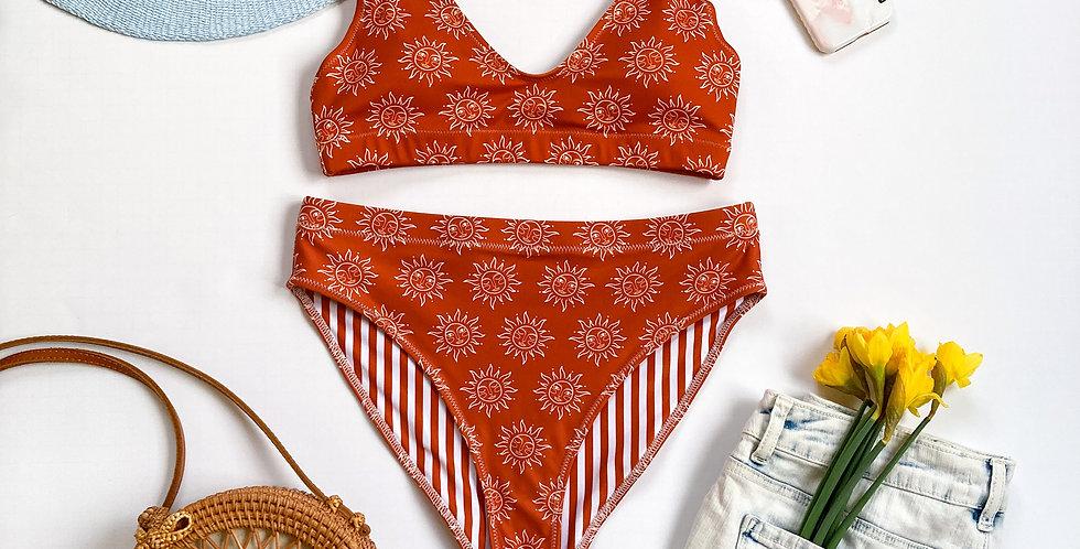 Lady Sunshine Terra-cotta Recycled High-Waisted Bikini