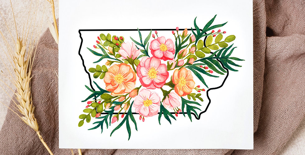 Iowa State Flowers | Watercolor Painting