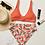 Thumbnail: Grapefruit Bottom Orange Top Recycled High-Waisted Bikini