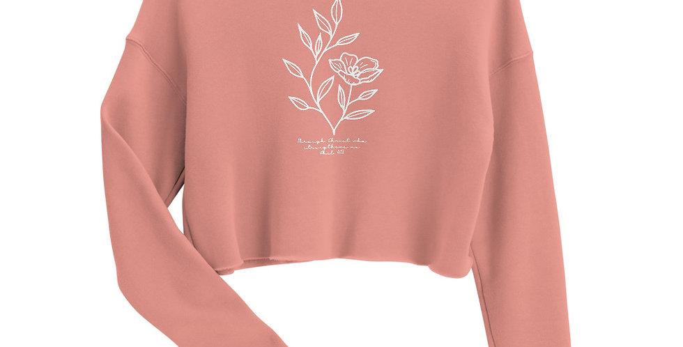 Through Christ Crop Sweatshirt