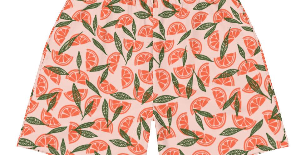 Matching Vegan Grapefruit Men's Shorts