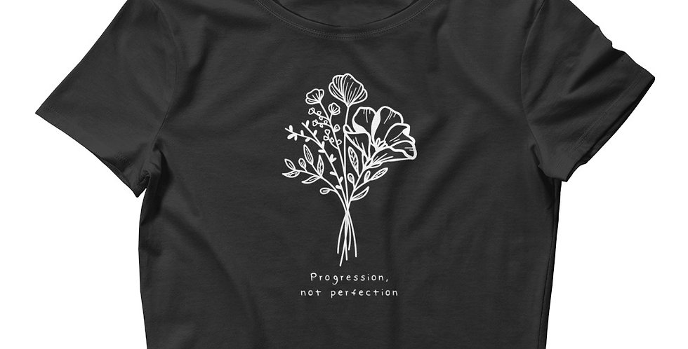 Progression Not Perfection Women's Crop Tee