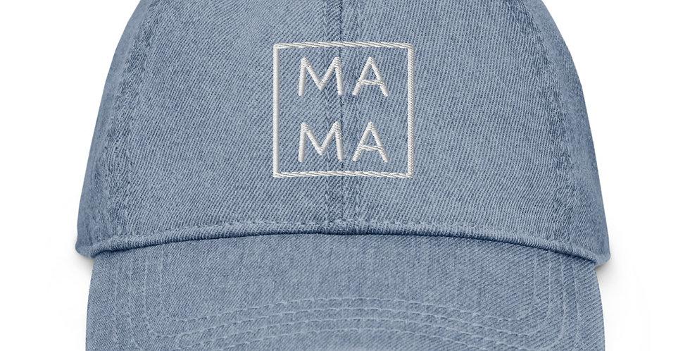 Mama Squared Denim Hat