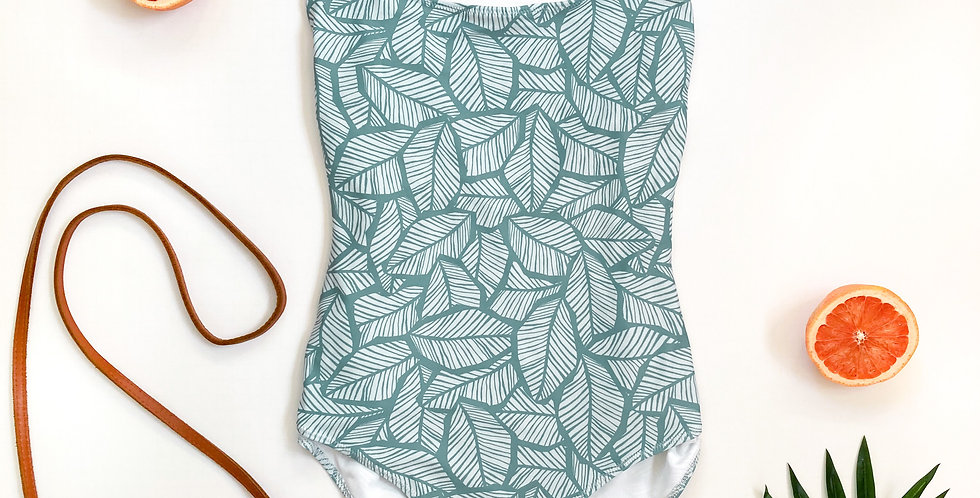 Tropical Leaf One-Piece Swimsuit copy