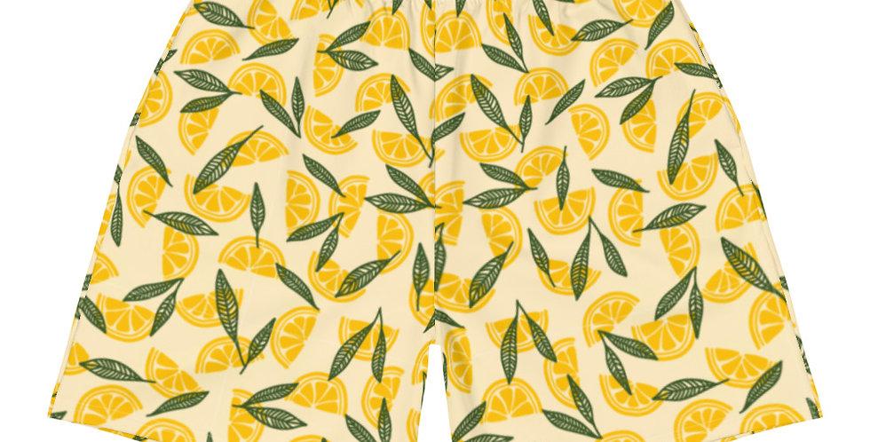 Matching Athletic Vegan Shorts | Lemon