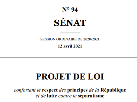 PROJET DE LOI PRINCIPES DE LA REPUBLIQUE