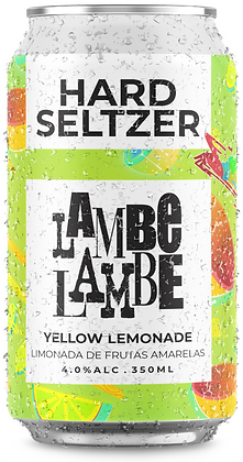 Yellow Lemonade Hard Seltzer Lambe Lambe 350ml