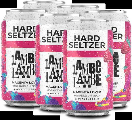 6-PACK Magenta Lover Hard Seltzer Lambe Lambe 350ml