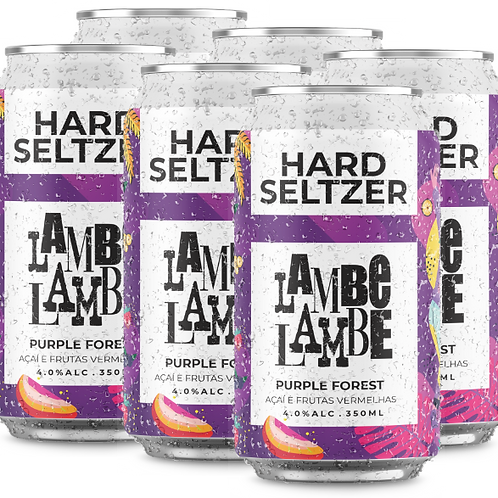 6-PACK Purple Forest Hard Seltzer Lambe Lambe 350ml