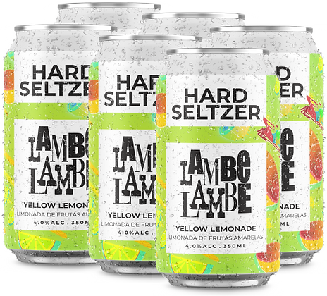 6-PACK Yellow Lemonade Hard Seltzer Lambe Lambe 350ml