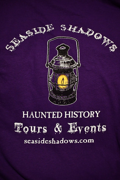 Seaside Shadows Lantern Logo Tee - Purple