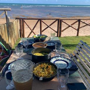 Almoço Pé na areia