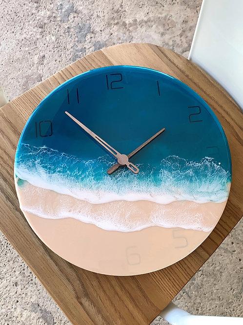 Resin Clock | Ocean-series | Submerged Numbers 1