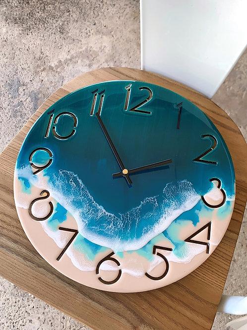 Resin Clock | Ocean-series | Numbered 30cm