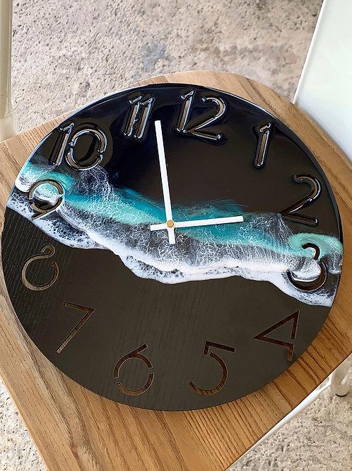 Resin Clock | Black Sand Beach