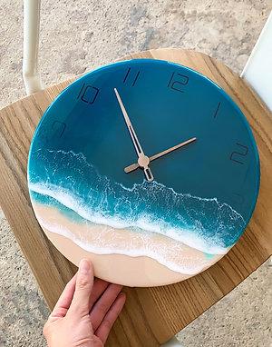 Resin Clock | Ocean-series | Submerged Numbers 2